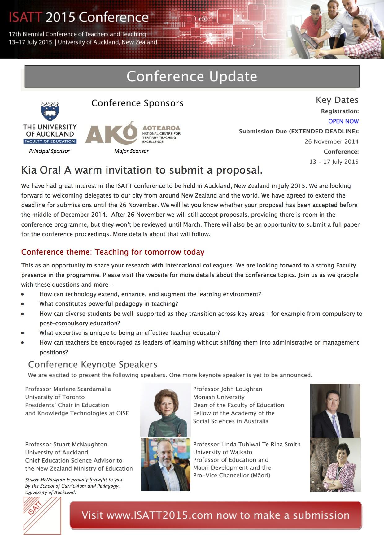ISATT 2015 Conference Flyer